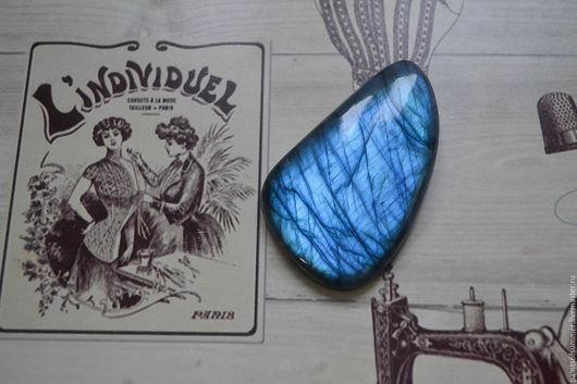 Для украшений ручной работы. Ярмарка Мастеров - ручная работа. Купить Лабрадор синий. Кабошон 60 Х 36 Х 8,5. Handmade.