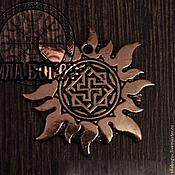 Русский стиль ручной работы. Ярмарка Мастеров - ручная работа Подвески с обережными символами в солнце. Handmade.