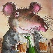 """Открытки ручной работы. Ярмарка Мастеров - ручная работа """"Мышарики"""" авторская открытка. Handmade."""