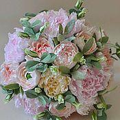 Цветы и флористика handmade. Livemaster - original item Interior arrangement Peonies Shabby floral from Japanese clay. Handmade.