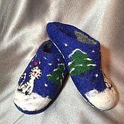 Обувь ручной работы. Ярмарка Мастеров - ручная работа валяные тапки. Handmade.