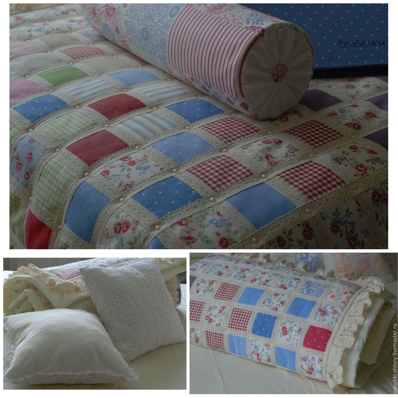 Вязаное покрывало на детскую кровать