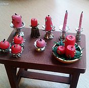 Куклы и игрушки handmade. Livemaster - original item Accessories for dolls - Candles with candlesticks for miniature. Handmade.