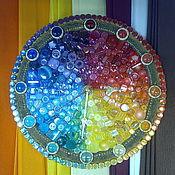 """Для дома и интерьера ручной работы. Ярмарка Мастеров - ручная работа часы  настенные мозаика """"Спектр"""". Handmade."""