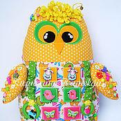 Куклы и игрушки ручной работы. Ярмарка Мастеров - ручная работа Развивающая игрушка сова мини. Handmade.