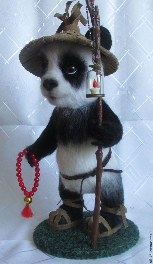 Игрушки животные, ручной работы. Ярмарка Мастеров - ручная работа. Купить Панда Шао. Handmade. Чёрно-белый, панда