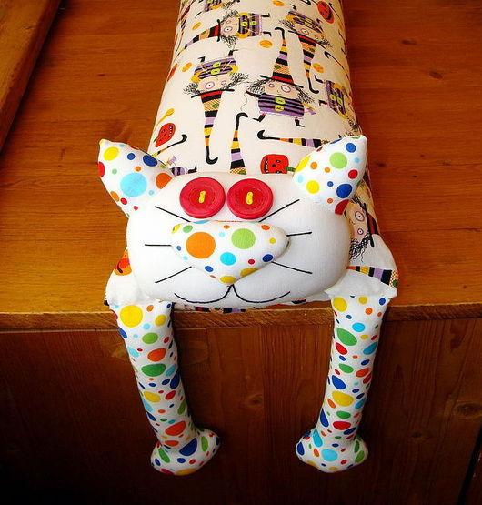 """Приколы ручной работы. Ярмарка Мастеров - ручная работа. Купить Игрушка-подушка """"Радужный кот"""" ведьмочки. Handmade. Подушка декоративная"""