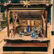 Подарки к праздникам ручной работы. Ярмарка Мастеров - ручная работа Вертеп Рождественский (без фигур). Handmade.