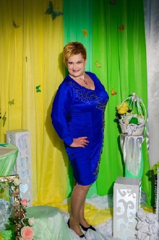 """Платья ручной работы. Ярмарка Мастеров - ручная работа. Купить Платье """"Млечный путь"""". Handmade. Тёмно-синий, платье вечернее"""