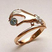 Украшения handmade. Livemaster - original item Golden ring with Topaz. Handmade.