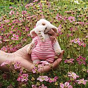 """Куклы и игрушки ручной работы. Ярмарка Мастеров - ручная работа Мини слоненок Тедди """"Шон""""- дом нашел!. Handmade."""