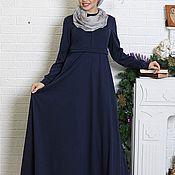 """Одежда ручной работы. Ярмарка Мастеров - ручная работа Длинное синее платье М-541 """"Муза"""". Handmade."""