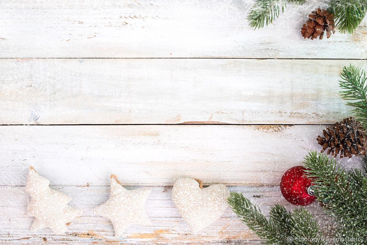 Фотофон Новый год Игрушки 40х40 см, Декор, Ярославль, Фото №1