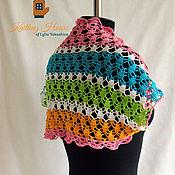 Одежда ручной работы. Ярмарка Мастеров - ручная работа Болеро женское летнее ажурное связано крючком из хлопка разноцветное. Handmade.