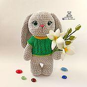 Куклы и игрушки handmade. Livemaster - original item Toy Bunny Martha knitted plush toy Hare toy rabbit. Handmade.