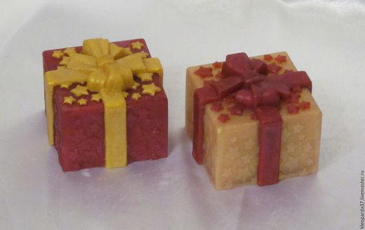 """Мыло ручной работы. Ярмарка Мастеров - ручная работа. Купить Мыло сувенирное """"Подарочек 3D!"""".. Handmade. Комбинированный, подарок 3д"""