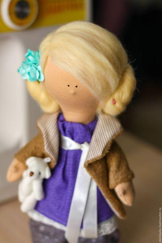 Куклы тыквоголовки ручной работы. Ярмарка Мастеров - ручная работа. Купить Куколка Софачка. Handmade. Фиолетовый, куколка малышка