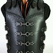 Одежда handmade. Livemaster - original item Motorcycle heavy leather vest. Handmade.