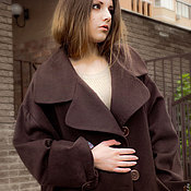 Одежда handmade. Livemaster - original item cocoon coat autumn cashmere Fashion. Handmade.