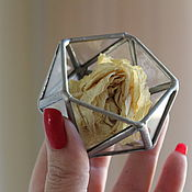 Свадебный салон handmade. Livemaster - original item Glass casket. Silver box for wedding rings. Handmade.