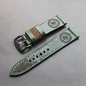 handmade. Livemaster - original item Strap handmade 24mm for the watch / Apple Watch leather. Handmade.