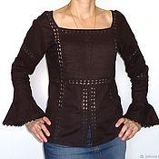 Одежда ручной работы. Ярмарка Мастеров - ручная работа Блуза В шоколаде. Handmade.