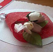 Открытки ручной работы. Ярмарка Мастеров - ручная работа Открытка с букетом цветов. Handmade.