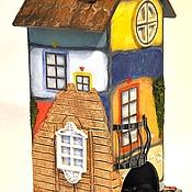 Для дома и интерьера ручной работы. Ярмарка Мастеров - ручная работа В стиле Хундертвассера (чайный домик). Handmade.