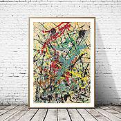 Картины и панно handmade. Livemaster - original item Poster Jackson Pollock - Number 16 Reprint Museum Quality. Handmade.