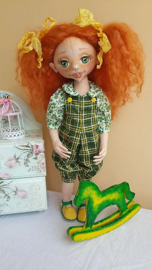 Коллекционные куклы ручной работы. Ярмарка Мастеров - ручная работа. Купить Текстильная кукла Юленька. Handmade. Кукла ручной работы