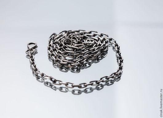 Кулоны, подвески ручной работы. Ярмарка Мастеров - ручная работа. Купить Серебряный цепь якорь для кулонов - 60 см. Handmade.