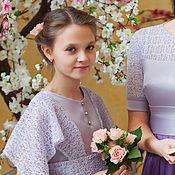 Работы для детей, ручной работы. Ярмарка Мастеров - ручная работа Детское платье с кружевом. Handmade.