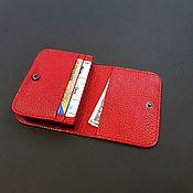 Сумки и аксессуары handmade. Livemaster - original item Cardholders, Business Card, Credit Card. Red natural leather floter. Handmade.