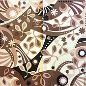 Материалы для творчества ручной работы. Ярмарка Мастеров - ручная работа 2 вида.Бежево коричневый орнамент.Салфетки для декупажа. Handmade.