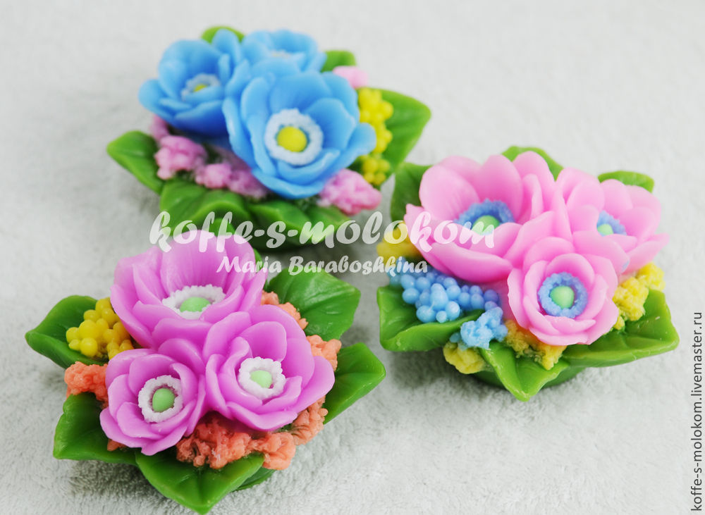 Silicone molds for soap Bouquet of buttercups, Form, Moscow,  Фото №1