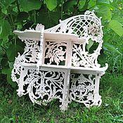 Для дома и интерьера ручной работы. Ярмарка Мастеров - ручная работа Полка с цветком, в стиле ренессанс. Handmade.