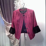 Одежда ручной работы. Ярмарка Мастеров - ручная работа Костюм Шанель  с мехом норки Blackglama. Handmade.