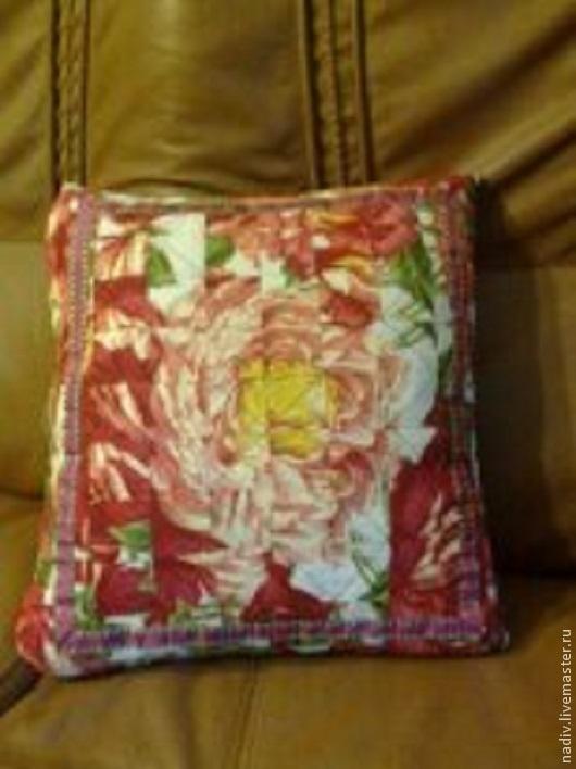 Текстиль, ковры ручной работы. Ярмарка Мастеров - ручная работа. Купить Наволочка на подушку Роза. Handmade. Наволочка на подушку, розы