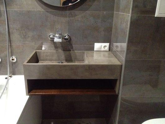 Ванная комната ручной работы. Ярмарка Мастеров - ручная работа. Купить Раковина из микроцемента. Handmade. Темно-серый, микроцемент, микроцемент