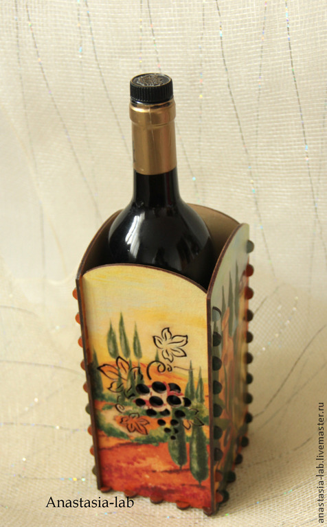 """Корзины, коробы ручной работы. Ярмарка Мастеров - ручная работа. Купить Короб-подставка для масла """"Солнечная Италия"""". Handmade."""