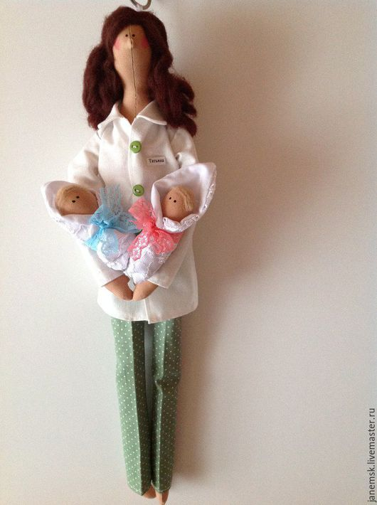 Куклы Тильды ручной работы. Ярмарка Мастеров - ручная работа. Купить Тильда акушер. Handmade. Комбинированный, подарок, шерсть