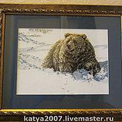 Картины и панно ручной работы. Ярмарка Мастеров - ручная работа Медведь (Гризли). Handmade.