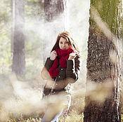 Аксессуары handmade. Livemaster - original item Scarf Knitted Forest Fairy.. Handmade.