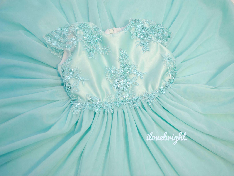 Нарядное платье « Бирюзовый блеск»