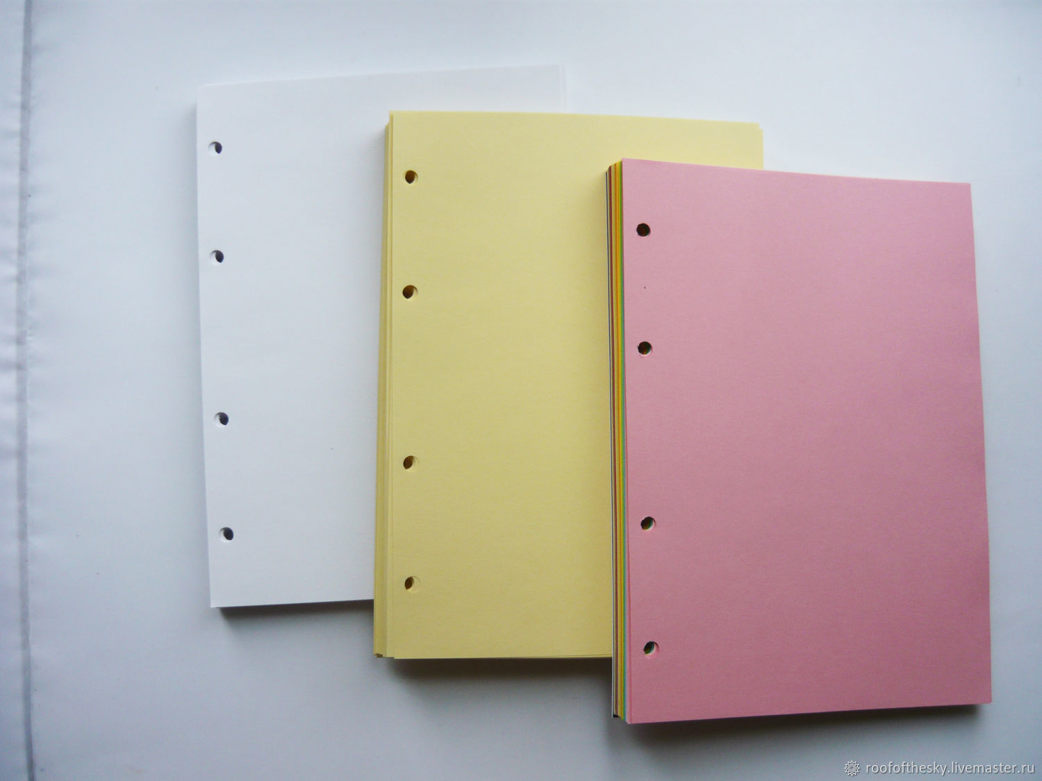 Refill unruled (white, black, colored paper), Notebooks, Moscow,  Фото №1