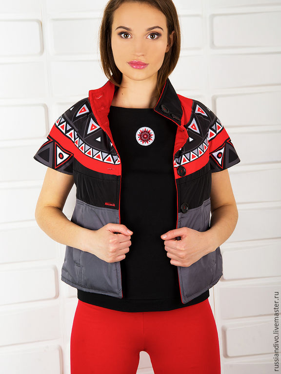 Vest from collection Sun. Gray, Vests, Novosibirsk,  Фото №1