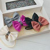 Работы для детей, handmade. Livemaster - original item Bows out of felt with elastic one-size. Handmade.