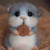 Куклы и игрушки handmade. Livemaster - original item Felted toy hamster chubby. Handmade.