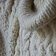 Кофты и свитера ручной работы. Свитер белый с косами и длинным воротом. Holmiks. Ярмарка Мастеров. Подарок женщине