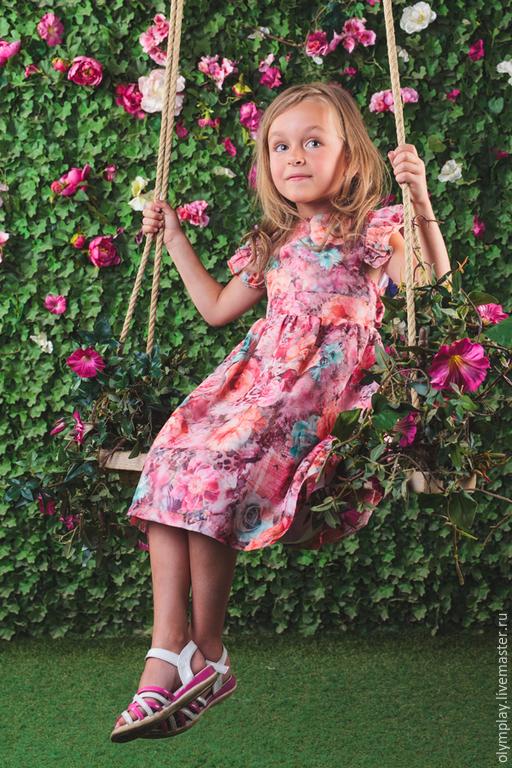 Одежда для девочек, ручной работы. Ярмарка Мастеров - ручная работа. Купить Детское платье - ручная работа (200367). Handmade. Бордовый